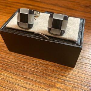 Black and white cufflinks